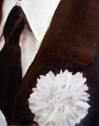 Formal Flower Paintings - Flower in His Buttonhole by Dawnstarstudios    