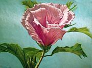 Botanical Pastels Metal Prints - Flower In The Sky Metal Print by Melissa Tobia