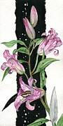 Elena Yakubovich Paintings - Flower Lily 01 Elena Yakubovich by Elena Yakubovich