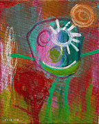 Outsider Art Painting Prints - Flower Print by  Abril Andrade Griffith