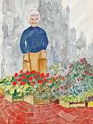 Flower Market France Print by Fred Jinkins