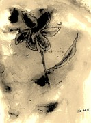 Mixed Media Mixed Media - Flower Negative by Marsha Heiken