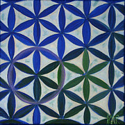 Flower Of Life Pattern Print by Art by Kar
