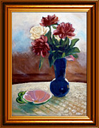 Ashtray Paintings - Flower of my mother by Rudolf Takacs