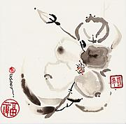 Sumi-e Paintings - Flower of White by Casey Shannon
