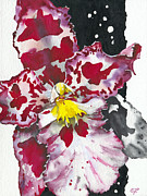 Fine Art  Of Women Painting Prints - Flower ORCHID 11 Elena Yakubovich Print by Elena Yakubovich
