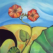 Artdeco Paintings - Flower Ornament 1 by Coco DE JARDIN