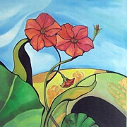 Artdeco Paintings - Flower Ornament 2 by Coco DE JARDIN