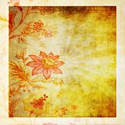Flower Pattern Print by Setsiri Silapasuwanchai