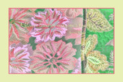 Muted Mixed Media Prints - Flower Power Print by Bonnie Bruno