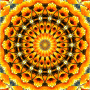 Purple Kaleidoscopes. Posters - Flower Power Poster by Laura Mountainspring