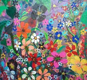 Robert Anderson Mixed Media - Flower power by Robert Anderson
