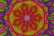 Kaleidoscope Digital Art - Flower Power by Stefan Kuhn