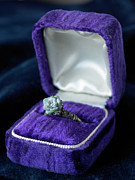 Wedding Ring Framed Prints - Flower Ring In Purple Box Framed Print by Jeremy Samuelson