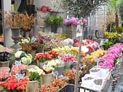 Flower Shop Amsterdam Print by Reina Resto