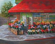 San Francisco Pastels - Flower Shop in San Francisco by Linda Roth