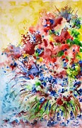Most Popular Paintings - Flower Symphony by Zaira Dzhaubaeva