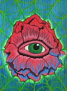 Acrylic Art Prints - Flower Vision Print by Landon Clary