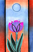 Michigan Pastels - Flower With Blue Moon by Christine Perry