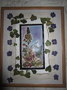 Invitations Paintings - Flower Wreath by Jadranka M