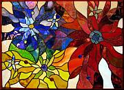 Beauty Glass Art - Flowerburst by Howard Mendelson