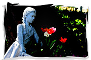 Statue Portrait Digital Art - FlowerGirl by Nilay Tailor