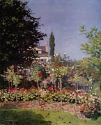 Impressionistic Paintings - Flowering Garden at Sainte Adresse by Extrospection Art
