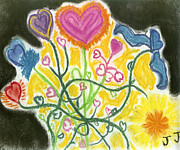 Hearts Pastels - Flowering Hearts by Jessika and Art with a Heart In Healthcare