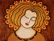 Icon Mixed Media Metal Prints - Flowering Intuition Metal Print by Gloria Rothrock