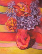 Flowering Orange Print by Lisa Boyd