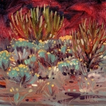 Flora Painting Prints - Flowering Sagebrush Print by Donald Maier