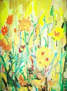 Yello Paintings - Flowers 111 by James  Christiansen