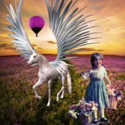 Balloon Flower Mixed Media Posters - Flowers And Fantasies 3  Poster by Tammera Malicki-Wong
