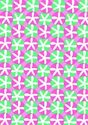 Geometry.color Prints - Flowers and Spots  Print by Louisa Knight
