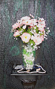 Impressionist Mixed Media - Flowers And Vase by Angela Stout