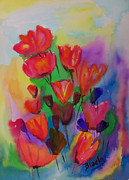 Interior Design Painting Posters - Flowers Du Jour Poster by Donna Blackhall