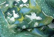 Blue Flowers Tapestries - Textiles Posters - Flowers floating on the water Poster by Joanna White