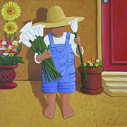 Mexican Painting Originals - Flowers For A Friend by Lance Headlee