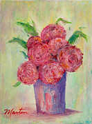 Carnations Paintings - Flowers for Eliza by Larry Martin