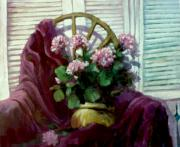 Outdoor Still Life Paintings - Flowers for Melissa by Dale  Witherow