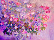 Floral Paintings - Flowers for Mother by Claire Bull