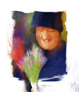 Amish People Posters - Flowers For Sale Poster by Bob Salo