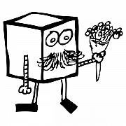 Cartoon Drawings Prints - Flowers For You Print by Karl Addison