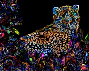 Cheetah Digital Art - Flowers by Frances Guzzetta