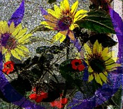 Flowers Impression Print by Navo Art