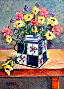 Gordon Swayze - Flowers in a Square Vase