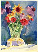 Judy Swerlick - Flowers in Glass Vase
