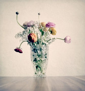 Soft Pastel Prints - Flowers in pastel Print by Kristin Kreet