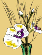 Quick Posters - Flowers in Vase Poster by Robert Ball