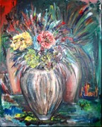 Vibrancy Paintings - Flowers by Laura Fatta